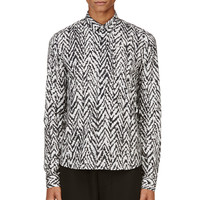 Krisvanassche Black And White Chevron Shirt