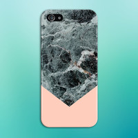 Black x Turquoise Marble Chevron x Baby Pink Phone Case for iPhone 6 6 Plus iPhone 5 5s 5c 4 4s Samsung Galaxy s6 s5 s4 & s3 and Note 5 4 3