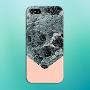 Black x Turquoise Marble Chevron x Baby Pink Phone Case for iPhone 6 6 Plus  iPhone a222218e55