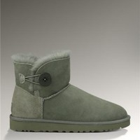 UGG Bailey Button Mini 3352 Boots Grey Popular