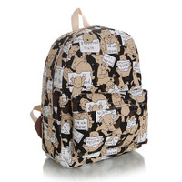 Dogs Lovely Cute Canvas Korean Backpack = 4887952132
