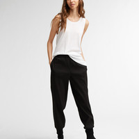 DKNY PURE PULL ON PANT WITH RIB CUFF