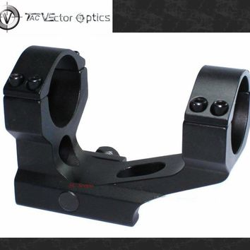 Rifle Scope 30mm & 1 Inch One Piece Dual Rings Cantilever Weaver Mount with Integrated Rings Accessory fit 21mm Picatinny Rails