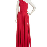 Halston Heritage - One-Shoulder Gathered Gown - Last Call