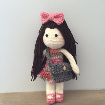Crochet doll, amigurumi doll, crocheted doll toy, handmade doll, amigurumi toy, baby doll, girls room decor, large crocheted doll, rag doll