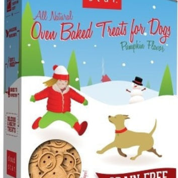DOG HOLIDAY - CHRISTMAS - OVEN BAKED GRAIN FREE PUMPKIN HOLIDAY TREAT - USA - 14 OZ - WHITEBRIDGE PET BRANDS - UPC: 693804318008 - DEPT: DOG PRODUCTS