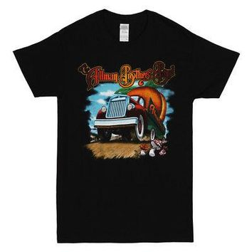 Allman Brothers Band Peach Truck Logo Licensed Adult Unisex T-Shirts - Black