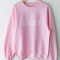Lazy Oversized Sweater - Pink