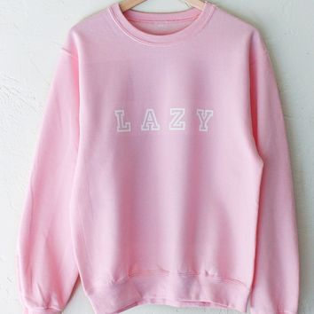 Lazy Oversized Sweatshirt - Pink