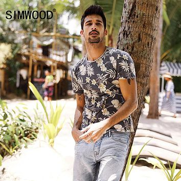 Men's Floral Slim Fit T Shirt