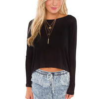 Campfire Kisses Top - Black
