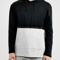Black/Grey Tape Seam Slim Overhead Hoodie