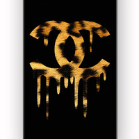 Chanel Drip Leopard for iPhone 4/4S Case **