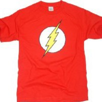 Officially Licensed DC Comics Flash Logo T-Shirt,Red,XX-Large