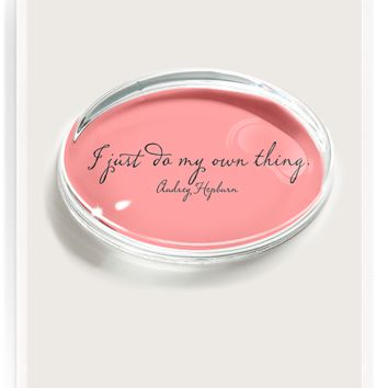 I Do My Own Thing Crystal Oval Paperweight