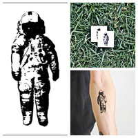 Astronaut - temporary tattoo (Set of 2)