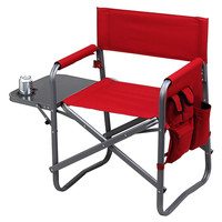 One Kings Lane - All Fired Up - Folding Chair w/ Table, Red