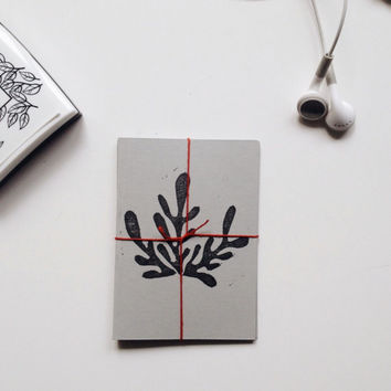 Hand Printed Card Set with Botanical Print, Eco Friendly Card