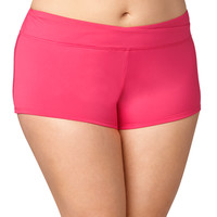 Plus Size - Coral Swim Short - Coral