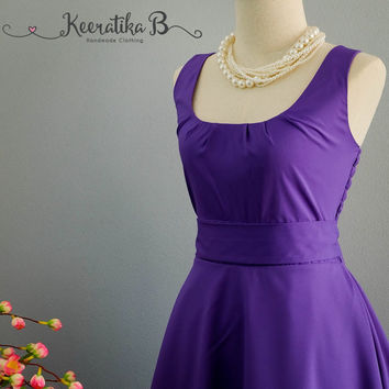 My Lady Royal Purple Dress Spring Summer Dress Purple Party Dress Purple Party Tea Dress Bridesmaid Dress Vintage Design Dress XS-XL