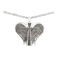 Montana Silversmiths Antiqued Silver Winged Cross Necklace
