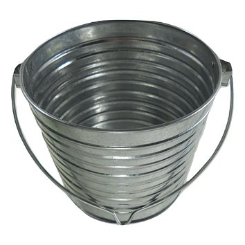 3 Galvanized 2 qt buckets w/ Wire Handles Garden Feed Wedding Parties plant #129