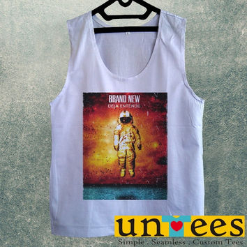 Men's Basic Tank Top - Brand New Deja Entendu Astronaut Design