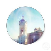 Kolomenskoye Architecture Ligth Sparkles - Sticker from Zazzle.com