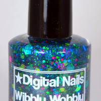 Wibbly Wobbly: A timey wimey Doctor Who inspired glitter nail polish by Digital Nails