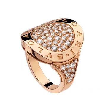Bulgari Diamond Gold Flip Ring