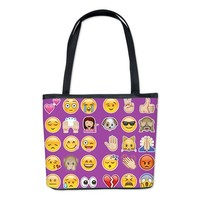 purple emojis Bucket Bag