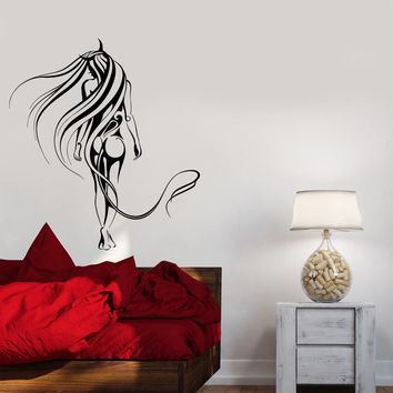 Wall Decal Naked Sexy Girl Beautiful Woman Devil Abstraction Patterns Vinyl Sticker Unique Gift (ed767)