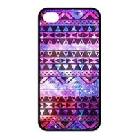 Custom Girly Floral Tribal Andes Aztec Printed TPU Cases Protector Snap On For Iphone 4/4s