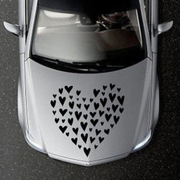 CAR HOOD VINYL DECAL ART STICKER GRAPHICS BIG NICE HEART OS597