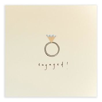 Engaged Pencil Shavings Card