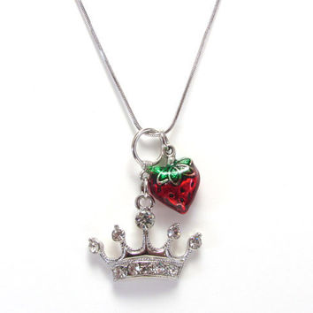 Crystal Five Pointed Crown and Strawberry by GalvestonTradingCo