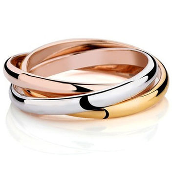 3 Color Anel 18K Gold Plated Brand Rings For Women Elegant Party Wedding Rings Rose Gold Fine jewelry JZ5502 = 1958189572