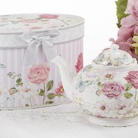 Grace Porcelain Teapot in Gift Box