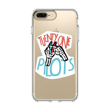 BLURRYFACE TWENTY ONE PILOTS 1 iPhone and Samsung Galaxy Clear Case
