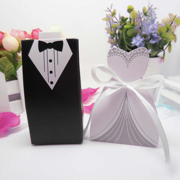 Wedding Decoration Bride Groom Candy Boxes Wedding Favor and Gifts Paper for Mariage Wedding Decoration