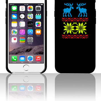 Moose Pattern Christmas Sweater 5 5s 6 6plus phone cases