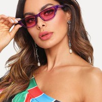 """Babe"" retro 90s cateye small frame sunglasses"