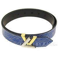 LOUIS VUITTON Ceinture Twist 30MM Epi Denim Blue Belt M9050W Authentic 4286691