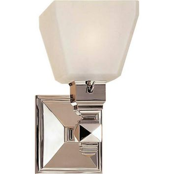 Visual Comfort and Company CHD1541PN-FG Polished Nickel Normandie Faceted One-Light Sconce