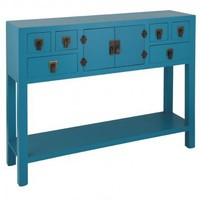NEW! Rama  Sita Turquoise Console Table|Console Tables|Tables|French Bedroom Company