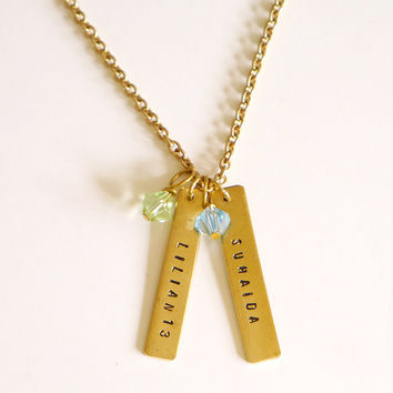 Birthstone Tag Necklace