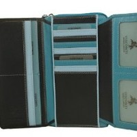 Visconti RB78 XL Soft Leather Ladies / Girls Multi Colored Wallet / Purse Clutch