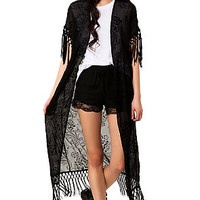 The Belle Kimono in Black
