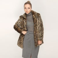 Feral Faux Fur Leopard Coat