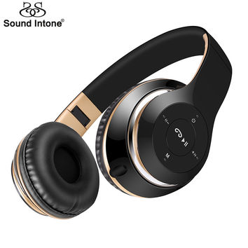 Sound Intone BT-09 Bluetooth Headphones Wireless Stereo Headsets earbuds with Mic Support TF Card FM Radio for iPhone Samsung